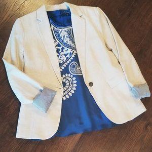 British Khaki Linen Blazer